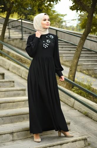 Robe Taille Froncée 8031-05 Noir 8031-05