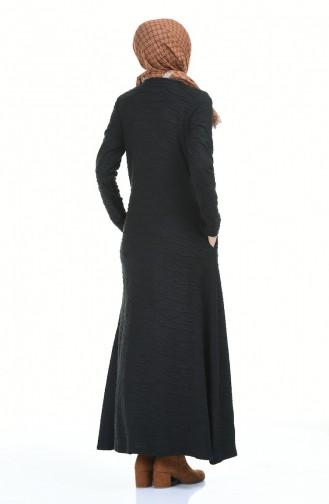 Kolyeli Elbise 0117-02 Siyah