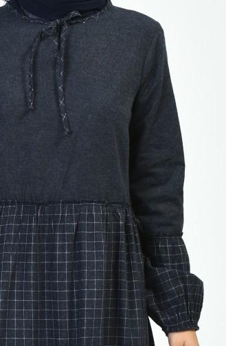 فستان أزرق كحلي 3106-01