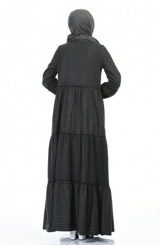 Schwarz Hijap Kleider 3106-02