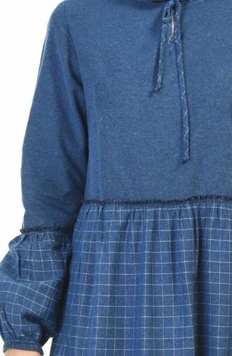 فستان نيلي 3106-06