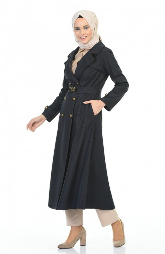 Dunkelblau Trench Coats Models 8938-01