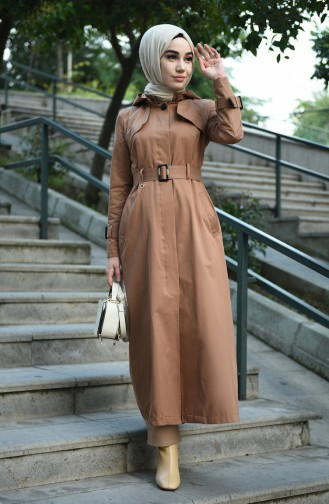 Cinnamon Trench Coats Models 6828-04