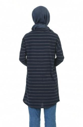 Navy Blue Tunic 1118-01