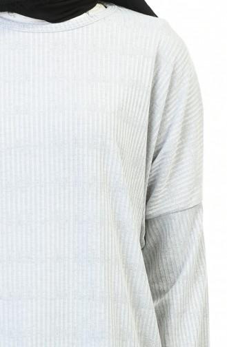 Basic Saisonale Tunika 1123-01 Grau 1123-01