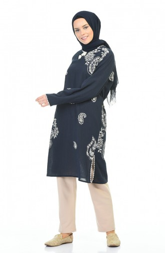 Navy Blue Tunic 0506-01