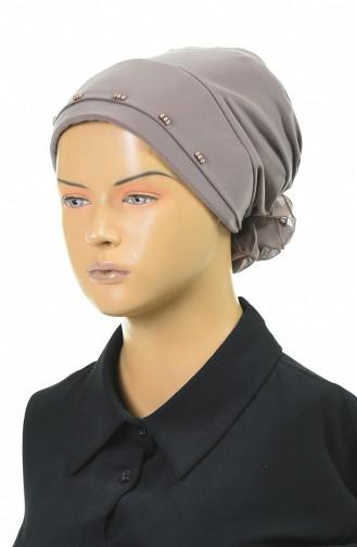 Drei Perlen bereite Turban-Bonnet 1053-06 Beige 1053-06