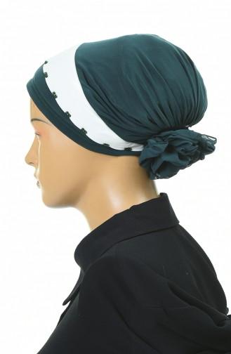 Doppelte Farbe bereite Turban-Bonnet  1054-01 Smaragdgrün 1054-01