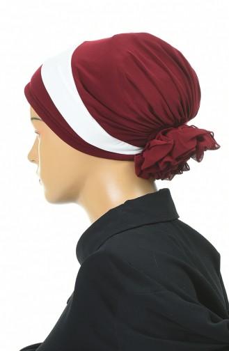 Doppelte Farbe bereite Turban-Bonnet  1054-02 Weinrot 1054-02
