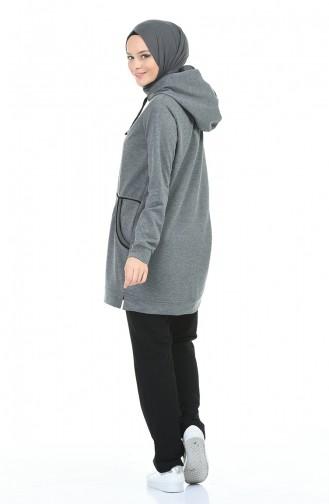 بدلة رياضية بقبعة انتراسيت فاتح 9119-02