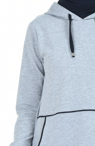 Hooded Tracksuit Gray 9119-04