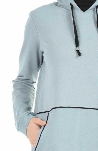 بدلة رياضية بقبعة أزرق عفني 9119-05