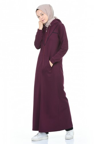 عباءه ارجواني داكن 9096-03