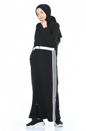 Black Abaya 9115-01
