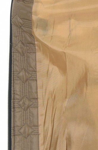 Big Size Quilted Coats Biscuit color 9010A-04