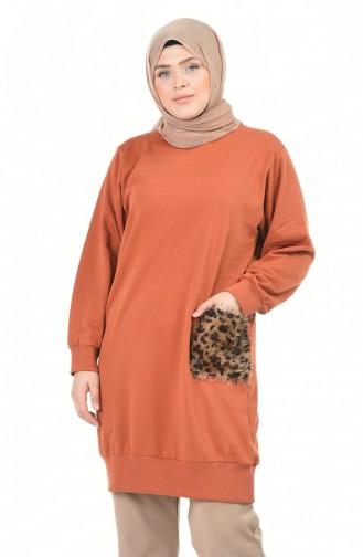 قميص رياضي قرميدي 3241-03