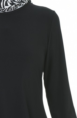Asimetrik Tunik Pantolon İkili Takım 3016-01 Siyah 3016-01