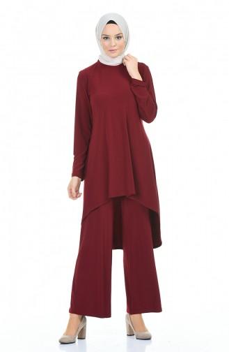 Claret red Suit 3016-02