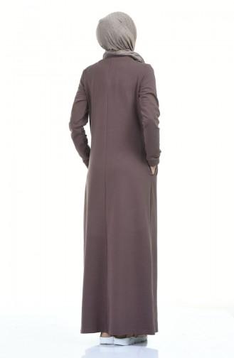 فستان بُني 9112-02