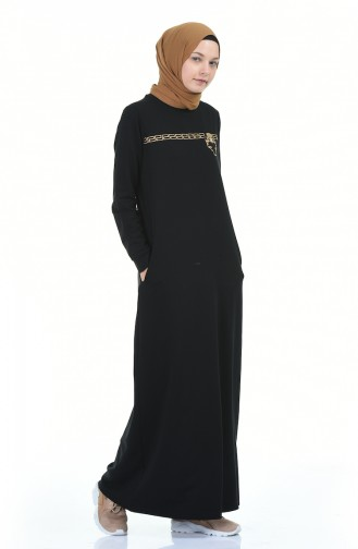Robe Hijab Noir 9112-05