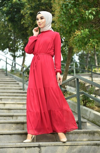فستان ارجواني داكن 8037-05