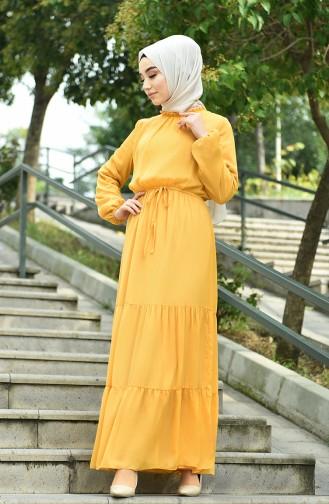 فستان أصفر خردل 8037-08