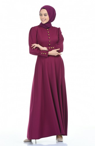 فستان زهري باهت 6780-06