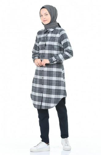 Plaid Tunic Gray 2490-02
