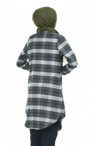 Plaid Tunic Khaki 2490-03