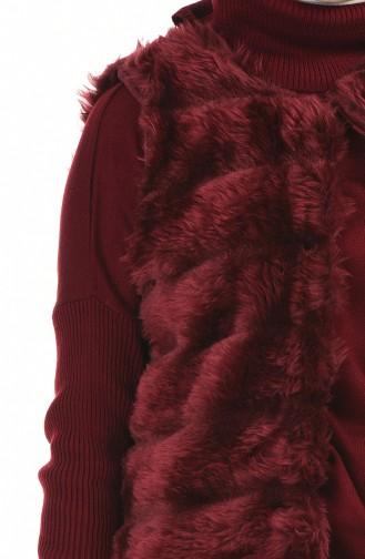 سترة بدون أكمام أحمر كلاريت 71202-06