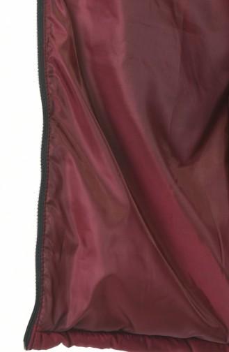 سترة بدون أكمام أحمر كلاريت 5136-02