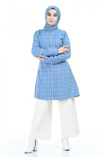 جاكيت بحزام أزرق 1302-03