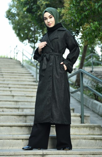 معطف منقوش كاكي 8155-01