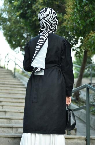 معطف شامواه أسود 8157-03
