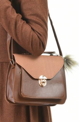 Stilgo Women´s Shoulder Bag Brown Tobacco 20Z-30