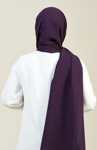 Plain Crinkle Crepe Shawl Dark Purple 13127-12