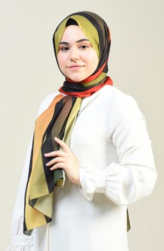 Desenli Pamuk Şal 95303-04 Haki 95303-04