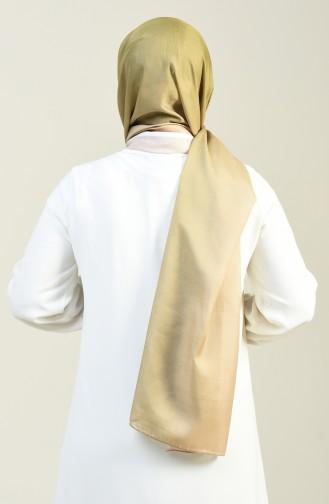 Patterned Cotton Shawl Green 95305-06