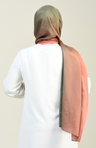 Patterned Cotton Shawl Onion Peel Color 95305-07