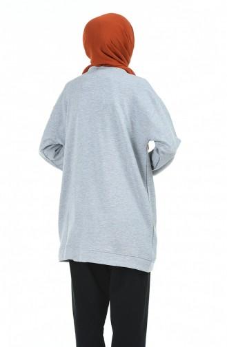 قميص رياضي رمادي 1000-01