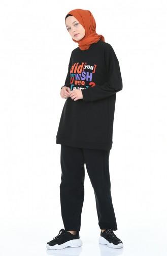 قميص رياضي أسود 1000-05