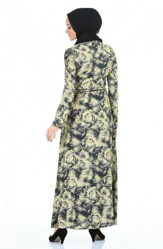 Robe Hijab Jaune 60060-02