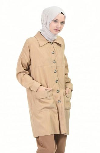 Fitilli Yarasa Kol Tunik 0999-01 Camel