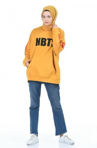 قميص رياضي أصفر خردل 1005-07