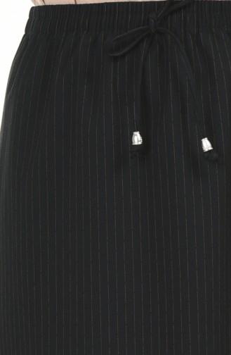 Beli Lastikli Etek 1143-01 Siyah Kırmızı 1143-01