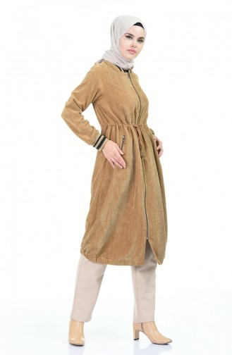 معطف طويل أصفر خردل 5132-05