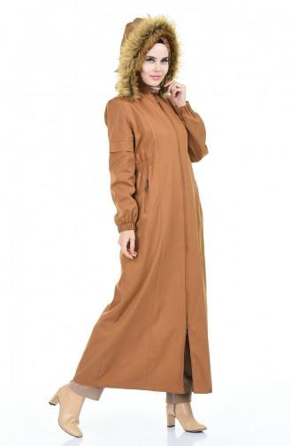 Caban Long à Capuche 4039-02 Camel 4039-02