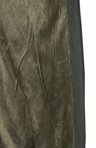 معطف طويل كاكي 4039-04