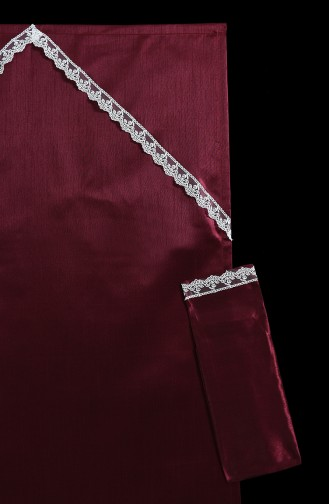 Claret red Praying Carpet 1011-01