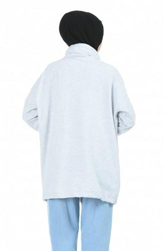 قميص رياضي رمادي 0992-03